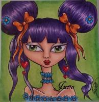 card for my little girl -Purple girl