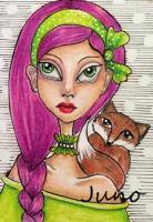 Girl and her fox