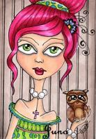Rose and baby Owl