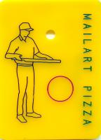 Mailart Pizza (back)