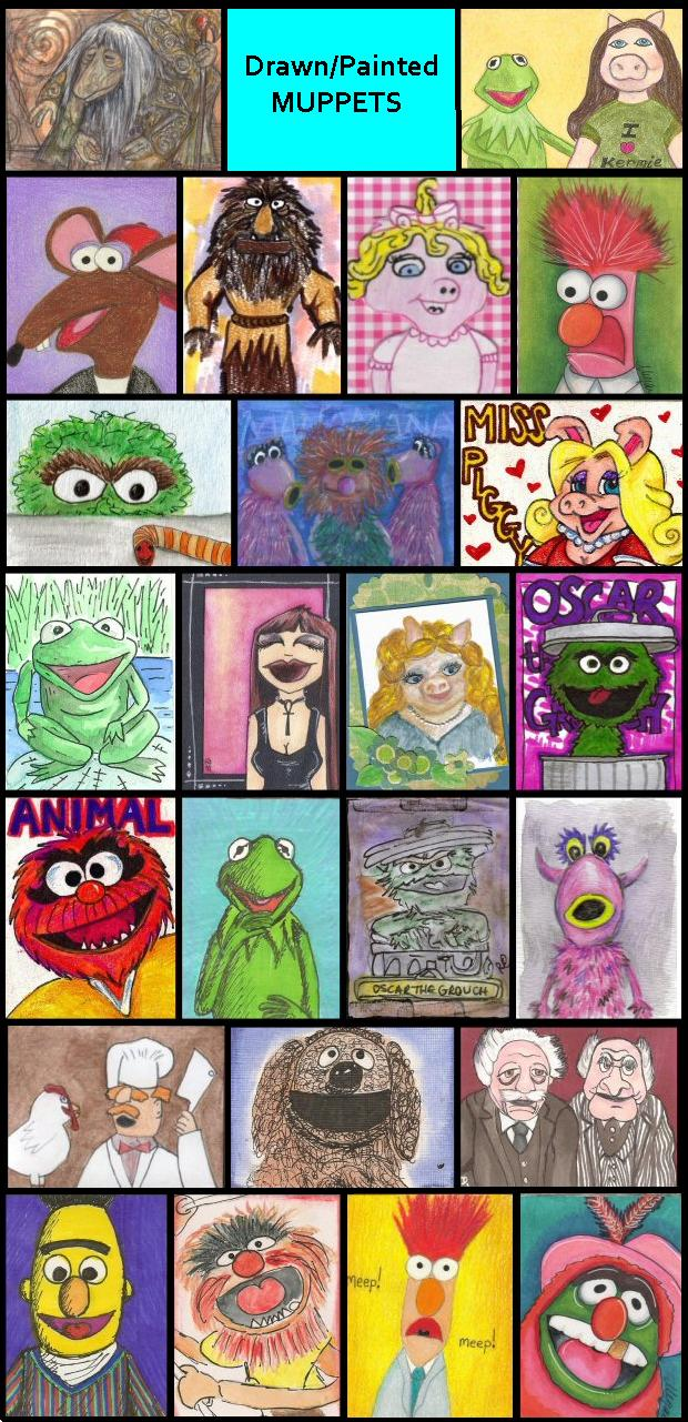 Drawn/Painted Muppets!